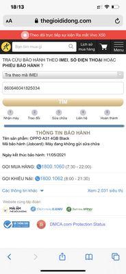 Oppo A31  Ram 4G /128 ( bh hãng )