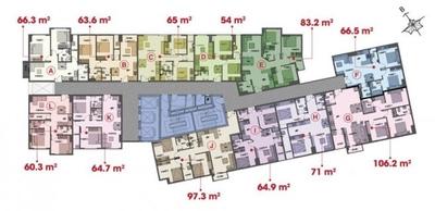 Chung cư Central Plaza - 91 Phạm Văn Hai 65m² 2PN