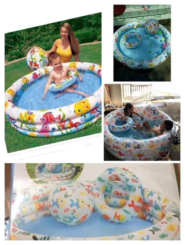 Hồ bơi tròn 3 món hàng in_te_x 219k/bộ 132x28cm