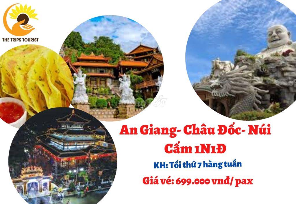 TOUR CHÂU ĐỐC- NÚI CẤM- AN GHIANG 1N1Đ