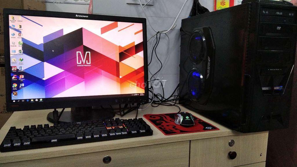 Bộ game cực mạnh VGA RX 570 SSD 60+250 Phím cơ LCD