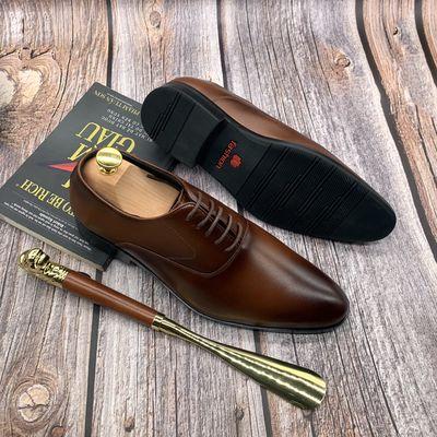 Giày Da Bò Oxford Công Sở Nam Phong Cách Lịch Lãm