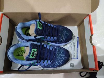 giày nike air zoom structure 20, xanh, size 36