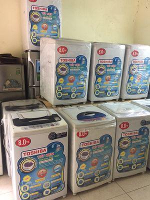 Máy giặt toshiba 8kg mới trên 90%.