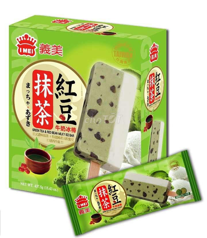 Kem trà xanh sữa đậu đỏ i mei / hộp 5 cây 87,5g