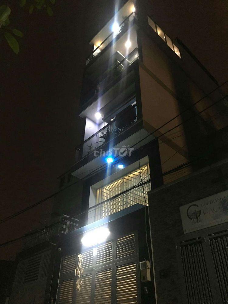 Nhà 1 trệt 3 lầu HXH đường Mã Lò 55m²
