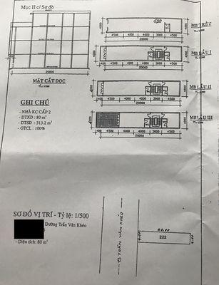 Bán nhà mặt tiền Trần Văn Khéo, DT: 4m x 20m