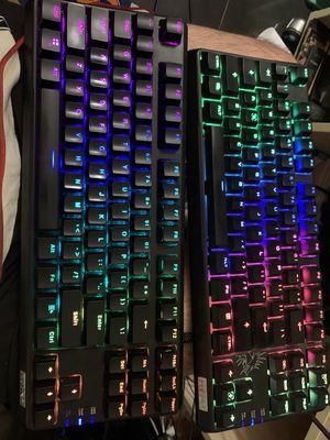 bàn phím LED RGB fuhlen m87s, m87