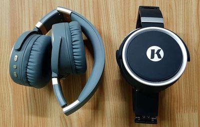 2 Tai nghe chụp bluetooth Kanen K6 (Xám, Đen) TGDD