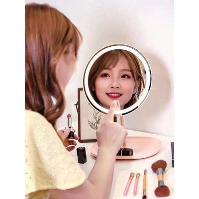 Gương đèn led tròn đề bàn