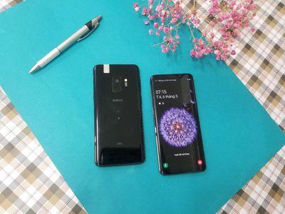Máy bán Samsung S9 đen và xám