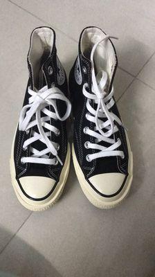 Giày Coverse 70s, đen, cổ cao size 36