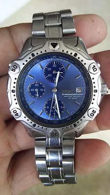 Đồng hồ Seiko 7kim, có báo thức, kim trôi.