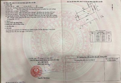 đất 242m2 trung tâm xã Phạm Văn Cội, thổ cư, SHR