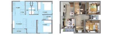 căn hộ  tầng 8a tòa s2.03 chung cư Vinhomes Smart