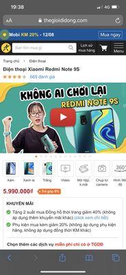Xiaomi Note 9s 6gb/128gb bh 15th
