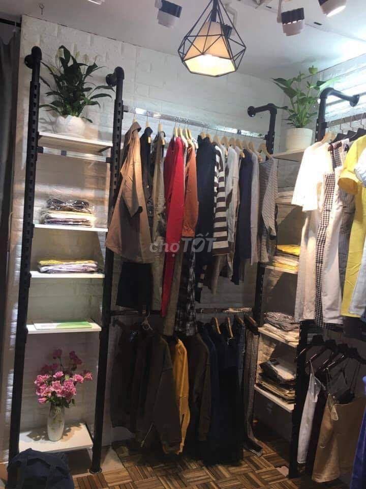 Full kệ treo áo quần shop