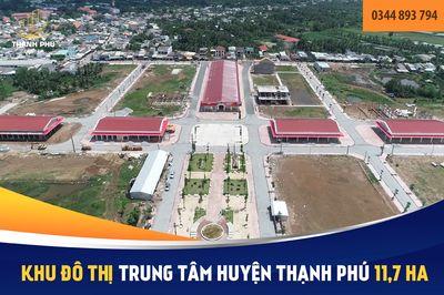 Khu đô thị Thạnh Phú - mặt tiền chợ - thổ cư 100%