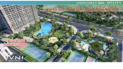 Căn hộ 3 ngủ 2wc view công viên Vinhome Smart City