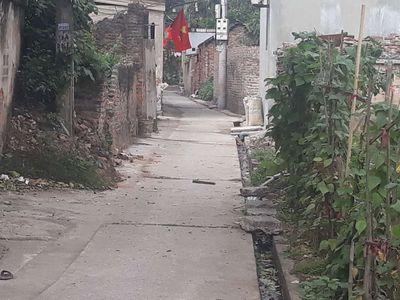 Thôn Du nội, đất sổ đỏ mai lâm: 126m2, đường: 2m8