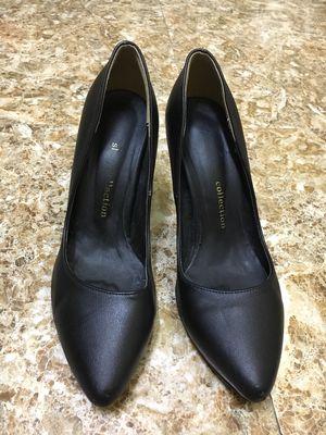 Đôi giày cao gót Korea đen da thật cỡ 37