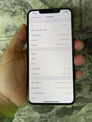 iPhone Xs Max 256Gb - Gold - zin keng - Lock Mỹ