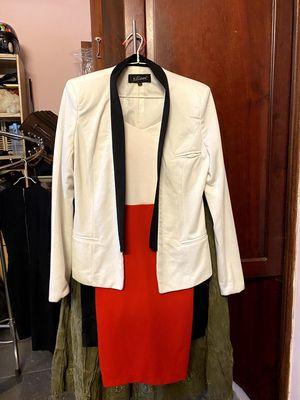 Set đầm hai dây & áo blazer