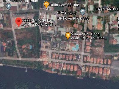 Bán 1300m2 Đất Ven Sông An Phú Đông Quận 12