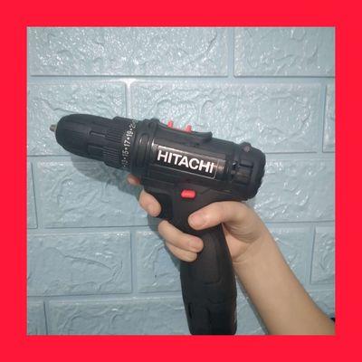 0773773928 - Máy khoan pin 12V HITACHI full hộp 2 tốc độ