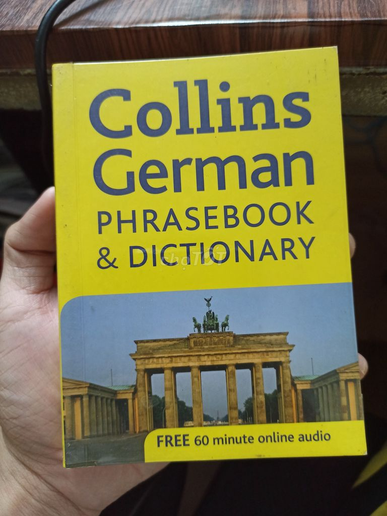 0943106616 - Sách Collins German Phasebook & Dictionary