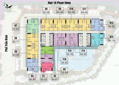 Chung cư An Bình Plaza 55m² 2PN giá 1.9 tỷ
