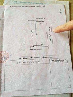 Bán gấp lô đất quốc lộ 1A Kỳ Tiến Kỳ Anh Hà Tĩnh