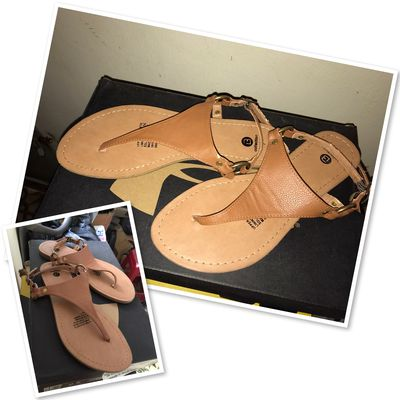 Giày sandal nữ, màu da, size 37
