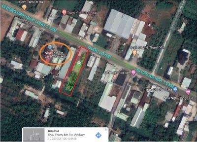 Đất MT QL 57B (883) 913.3m2 Xã Gao Hòa, Châu Thành