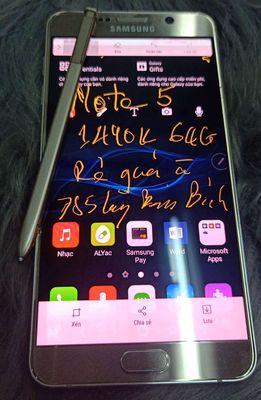 Bán Note 5 ram 64G vàng, ko lầm lỗi, màn có ám nhẹ