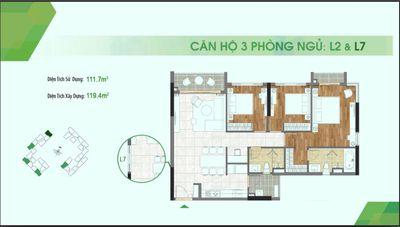 Bán căn hộ Sadora Q.2, 120m² 3PN, giá 9.05 tỷ