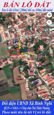 Bán lô đất Xã Bình Nghi,giá rẻ đông dân cư