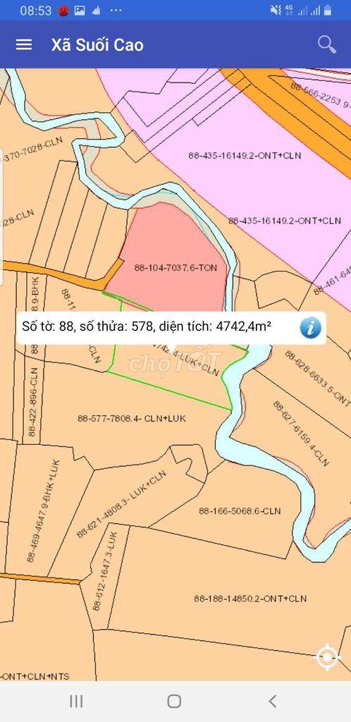 Đất Huyện Xuân Lộc 8.000m²