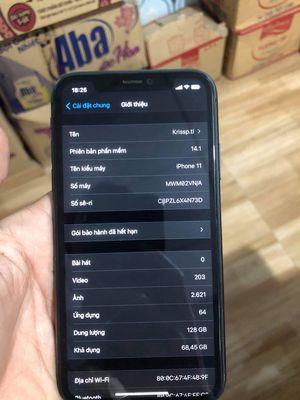 Iphone 11-128 hàng Vn/A 99% chưa qua sửa chữa