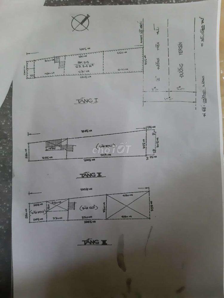 1 Căn  đường Yersin Q.1, Nhà 1 trệt 2 lầu