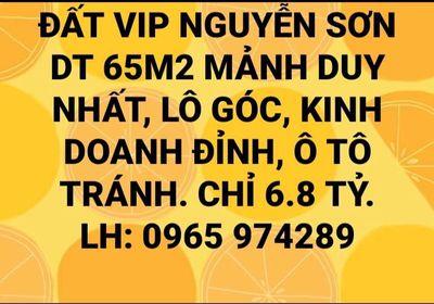 ĐẤT VIP NGUYỄN SƠN-LÔ GÓC-ÔTÔ TRÁNH-KINH DOANH.