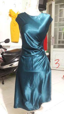 Đầm cotton lụa