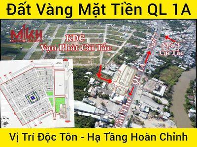 Nền mặt tiền Quốc Lộ 1A, cách chợ trung tâm 200m