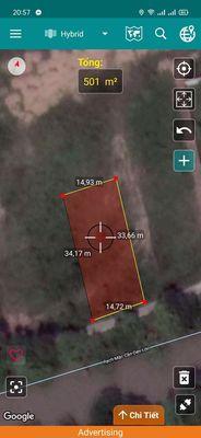 Nền thổ cư 15x33m TT. Phú Hoà