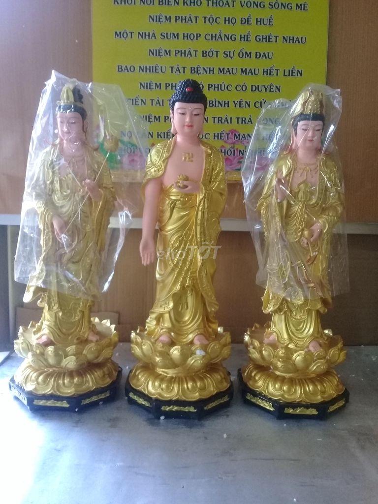3 tượng tam thánh đứng 50cm