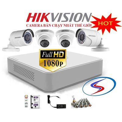 Bộ 4 camera Hikvision miễn phí lắp đặt và bảo hành