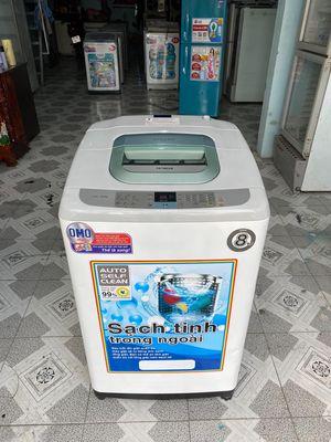 Thanh lý máy giạt hitachi 8kg chạy êm đẹp như hinh