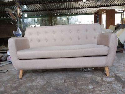 Ghê sofa  vải bố khung gỗ dầu kích thước 1650x800