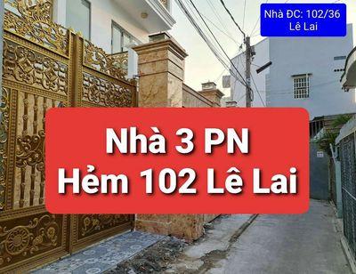 NHÀ TRỆT LẦU GIÁ RẺ HẺM 102 LÊ LAI- AN PHÚ- N KIỀU
