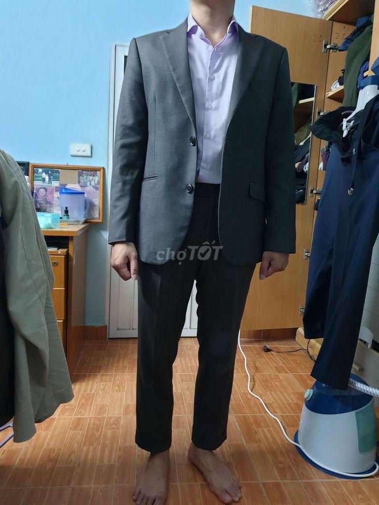 Bộ vest nam ghi xước Iclassic ( 1 áo + 2 quần)